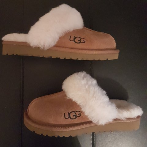 4c44ffc9353 UGG Children s Cozy II Sheepskin Slippers Colour chestnut x - Depop