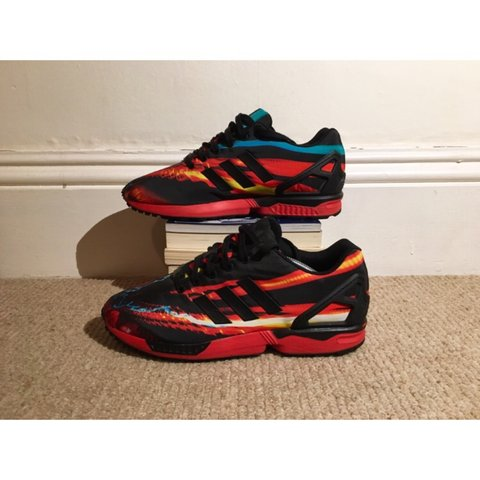 e8744df66cc66 Adidas ZX Flux Lava Red    Size UK 10    Great condition (as - Depop