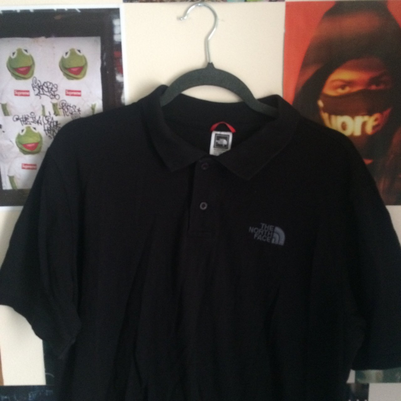 Black on Black The North Face polo ad4ee9a00