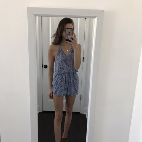 c0885f63f0cb cute forever 21 romper WITH POCKETS. open back and elastic i - Depop