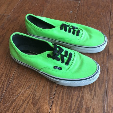 Neon green Vans • men s size 6.5 • condition USED - Depop 469137b41