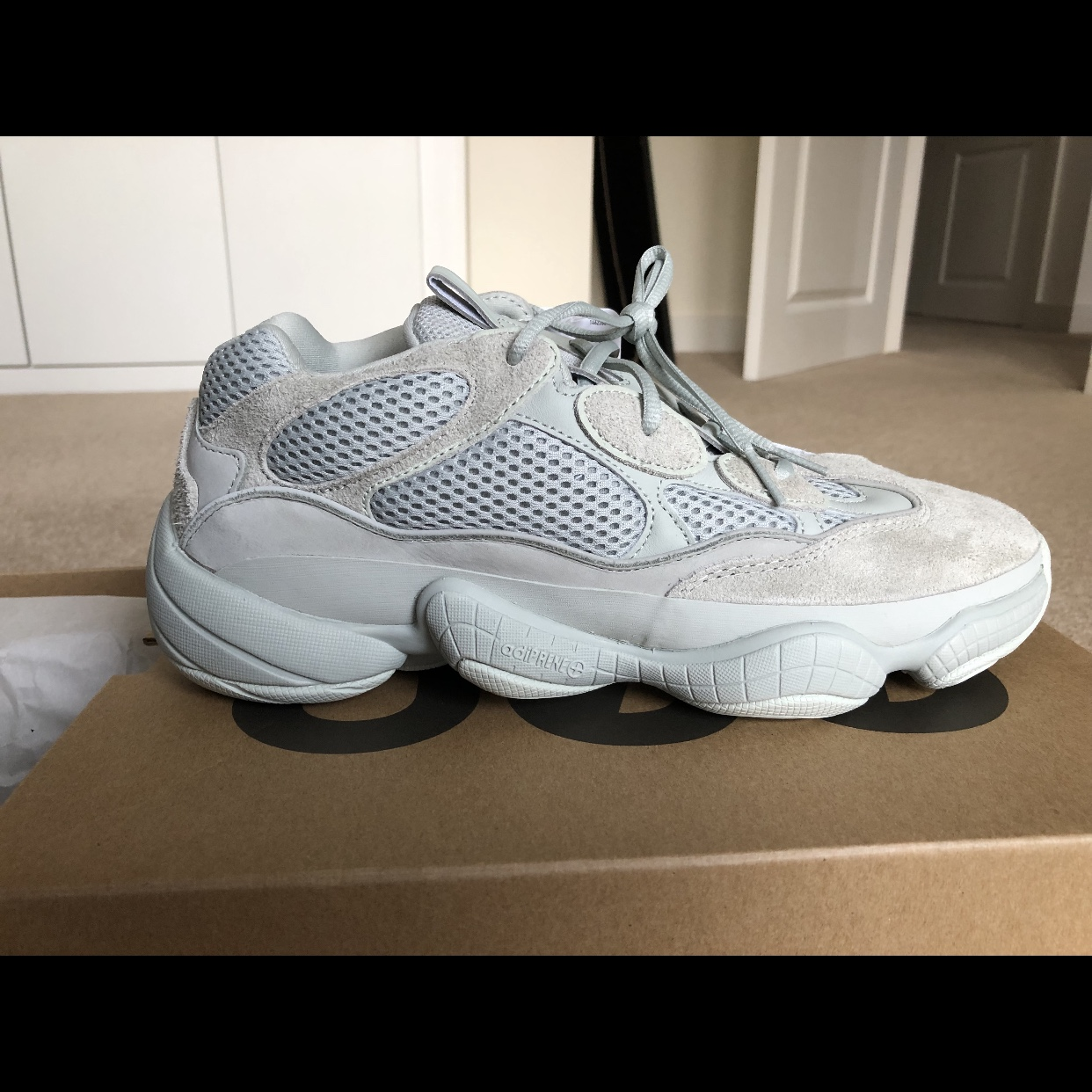 huge selection of 5cc79 d5a5a Yeezy 500s salt size 10.5 brand new in box In salt... - Depop