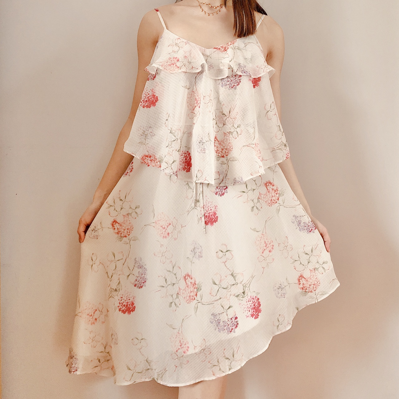 Floral Midi High-Low Dress ✨ Color is like an