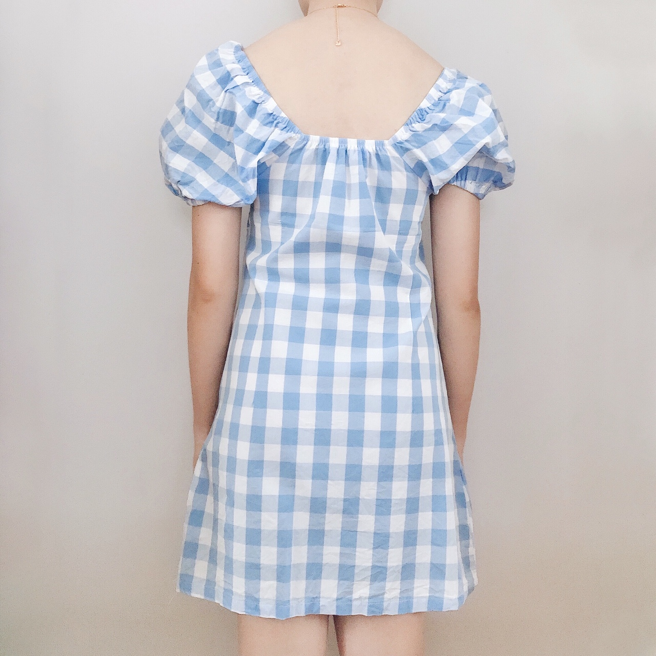 Baby Blue & White Gingham Picnic Dress