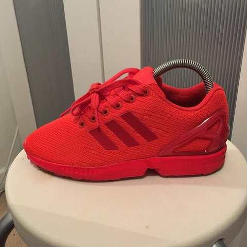 a310860a9c713 Bright red orange adidas zx Flux. Bought off of eBay but too - Depop