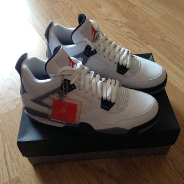 aa55af0ac4fe Nike Air Jordan 4 White Cement - size UK10 US11 EU45 - only - Depop