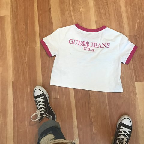 684a4dfb18a @sandraeliassemaan. 2 years ago. New York, NY, USA. BNWT Guess x asap rocky  boxy ringer crop tee.