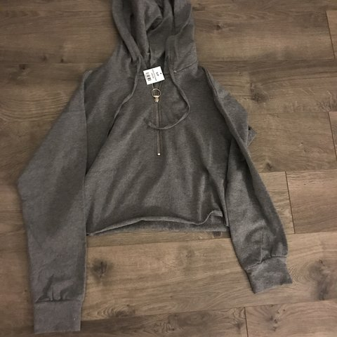 4d7adba60b36 Brand new grey hoodie with a quarter zip. The tag actually I - Depop