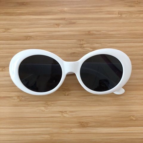33bef545ff593 ON HOLD! White Clout goggles  glasses - white Retro oval - Depop