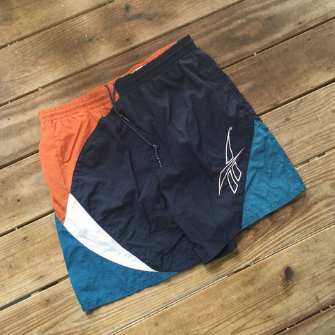 0b37410fa5 🦕☄ vintage Reebok trunks, no major flaws. size M tags: - Depop
