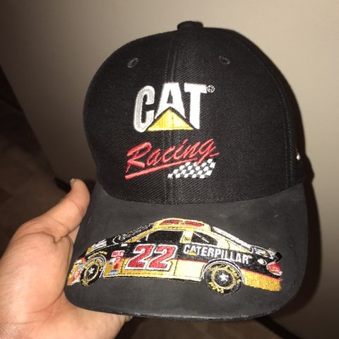 084c04ee42114 caterpillar racing cap with car no. 22 on the bill 8 10 in - Depop