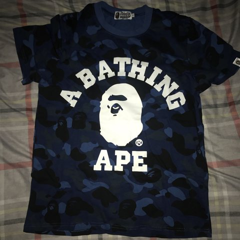 2d4c1da0 @rbl72. last year. Glasgow, United Kingdom. Bape blue camo t shirt ...