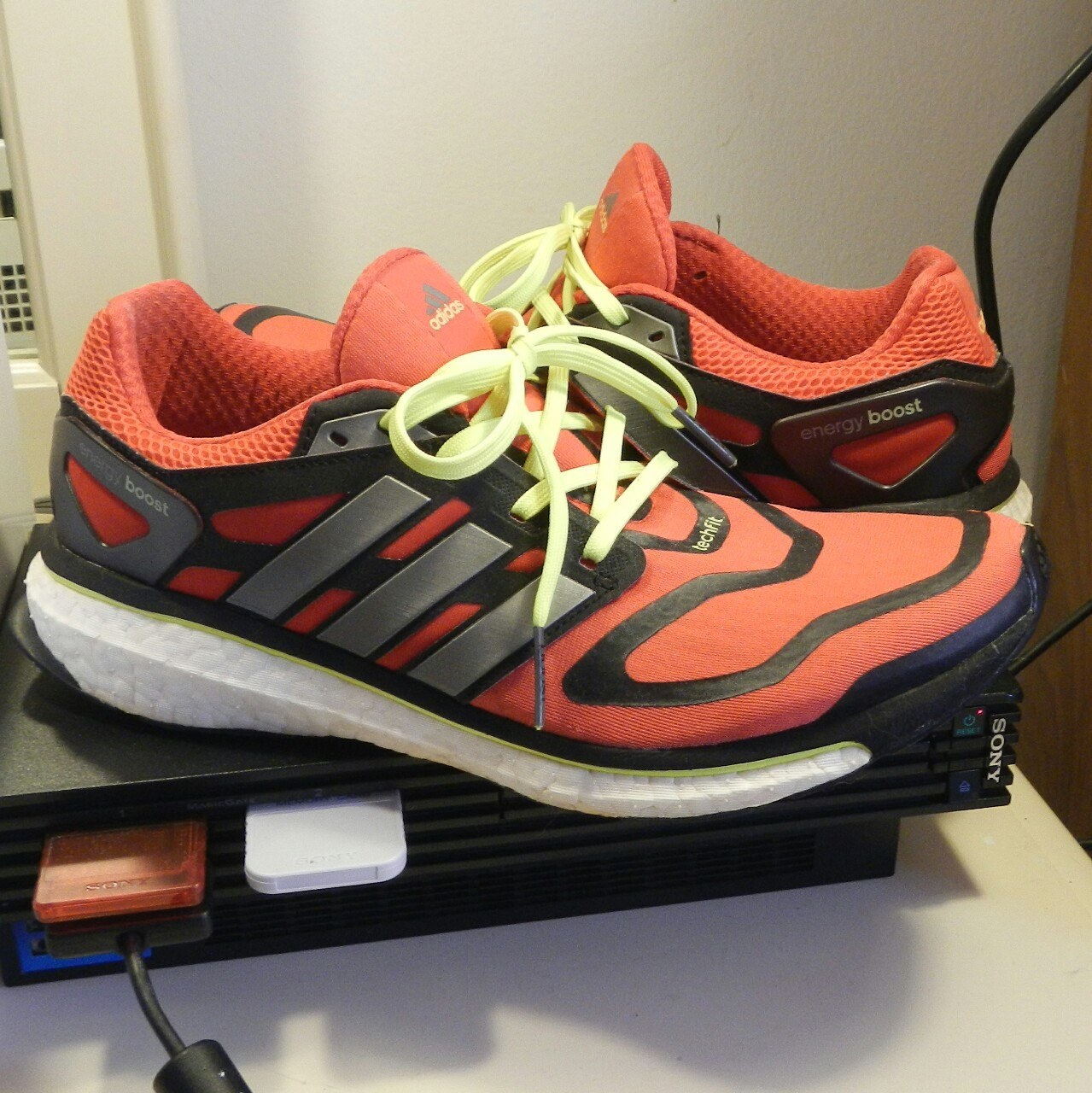 vacío unidad Dedicar  Adidas Energy Boost 1 in Red with Hints of Neon. Mi... - Depop