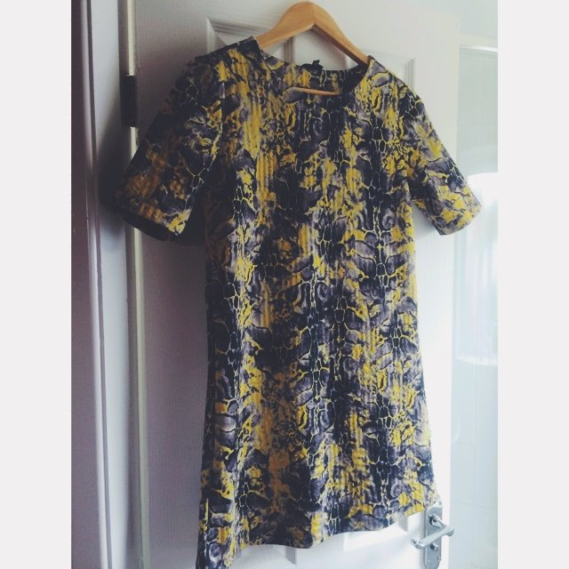 a075f61fa87c Yellow leopard print River Island t-shirt dress 💛 UK size 8 - Depop