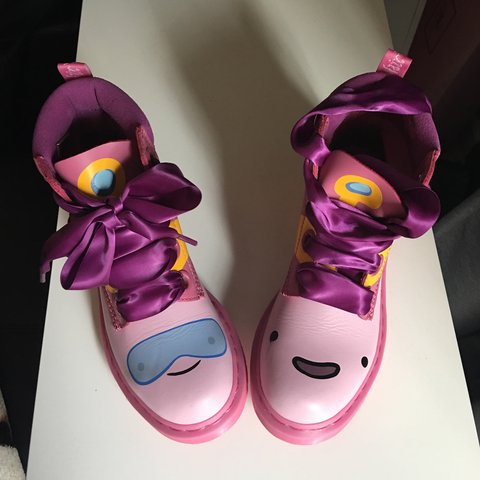 a55d6d051dab09 Adventure Time Princess Bubblegum Dr. Martens pink shoes. 7. - Depop