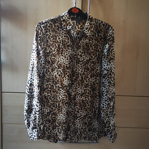 0b755a70a25332 Leopard print blouse. Size 8, from Primark. Worn a couple of - Depop
