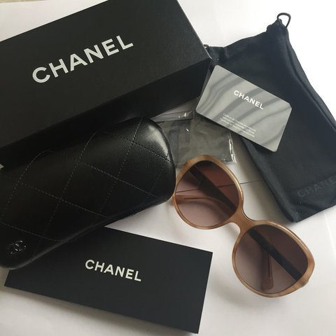 05e92b4880410 CHANEL 100% Authentic sun glasses. New never worn with case - Depop