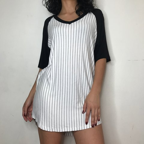 797f49a02c The Brandy Melville dress 🃏 A white dress with black and on - Depop
