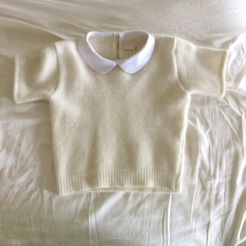 93b65b0d388 creamy vintage sweater made from recycled materials. never - Depop