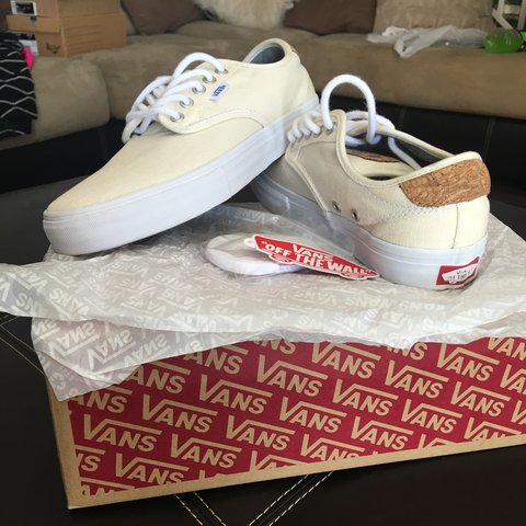 a2249f919416 Chima Ferguson Pro Vans. Cork and white with waffle soles in - Depop