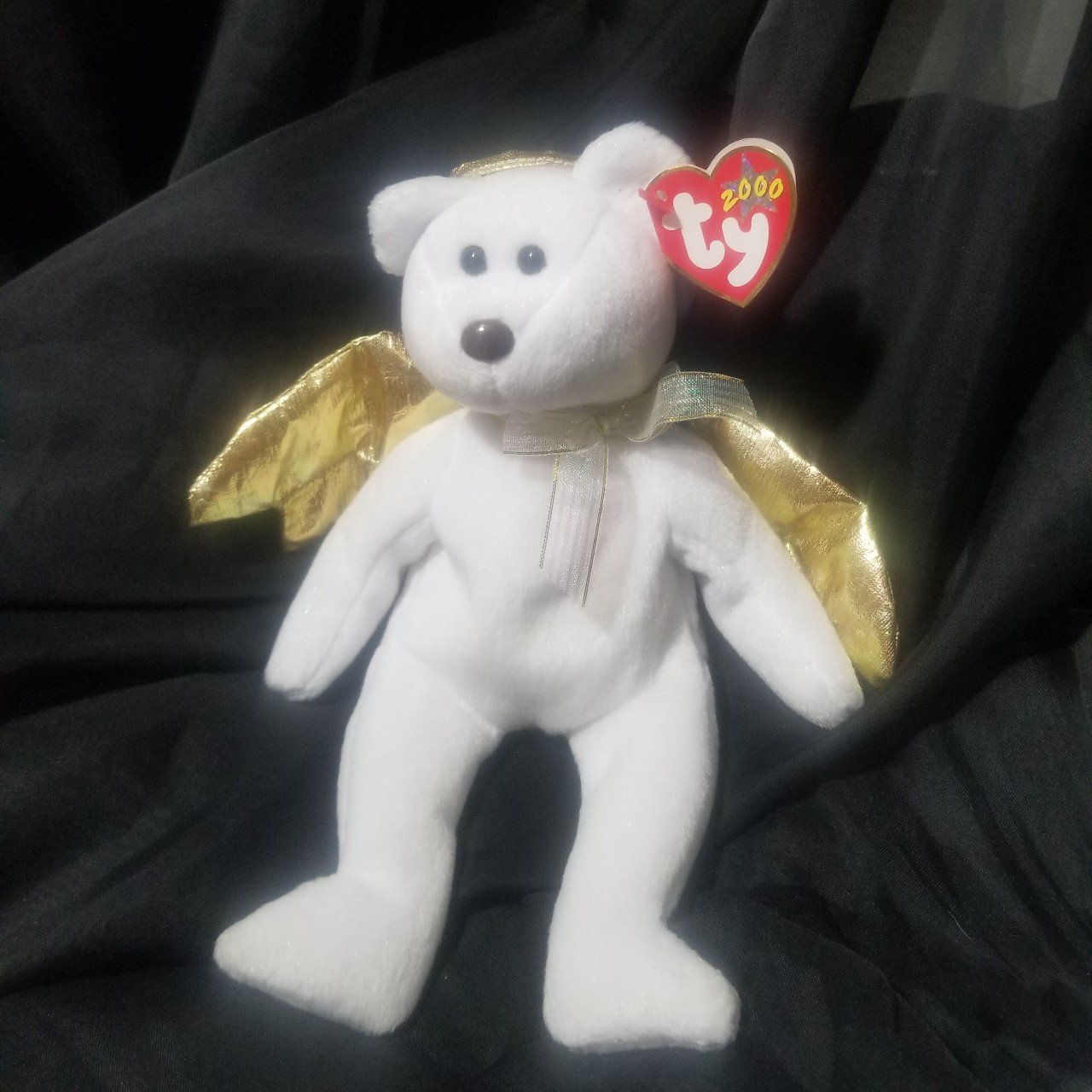 Halo 2 beanie baby angel bear. Gold wings and gold halo. Tag - Depop b94eccafcc0