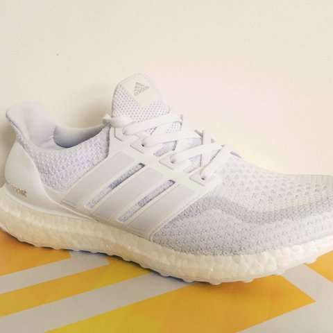 c92b18b2691ca 🏳ADIDAS TRIPLE WHITE ULTRA BOOST🏳   Brand new in box with - Depop