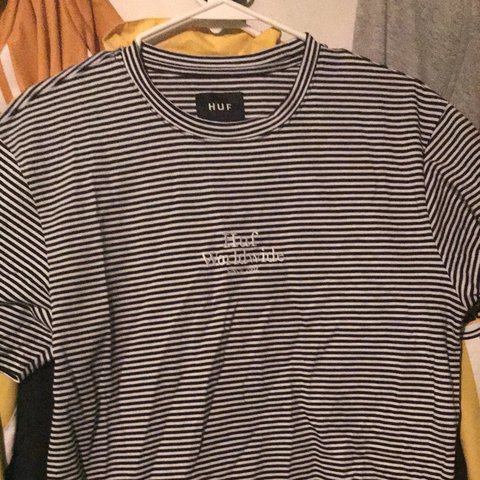 a30e24dd70 @alberthc123. last year. Mount Hood, United States. Huf Worldwide Black And white  striped shirt. SIZE M
