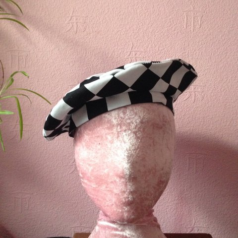 5ed661067dc73 Private listing for  emmaknowles96 Checkered beret at 59cm - Depop