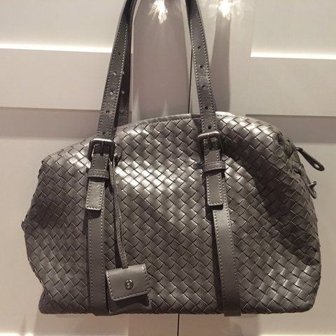 b3ca92ab347e Bottega Veneta designer Weave Bag in Grey. So gorgeous and - Depop