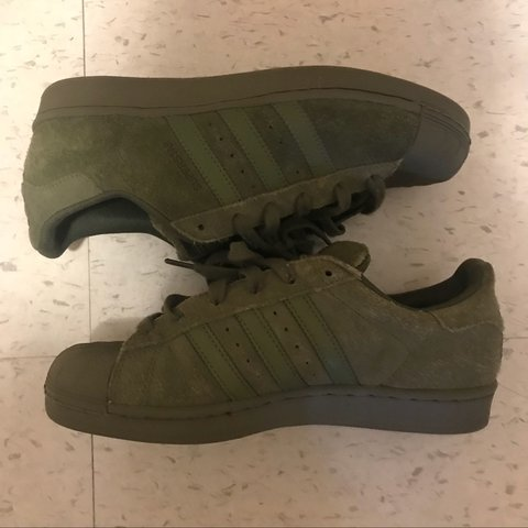 buy popular 31901 11b9a  morgrem. 2 years ago. Westfield, United States. Like new. 3M olive green  adidas superstars