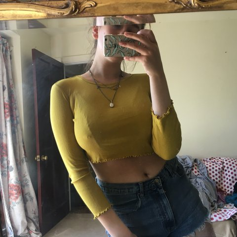 5a2d564af2e @chloea96. 11 months ago. Cirencester, United Kingdom. Mustard yellow crop  top ...