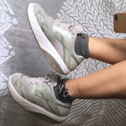 🌲 Really cute sea green MBT trainers with rocker bottom to - Depop c72fc7572f0e