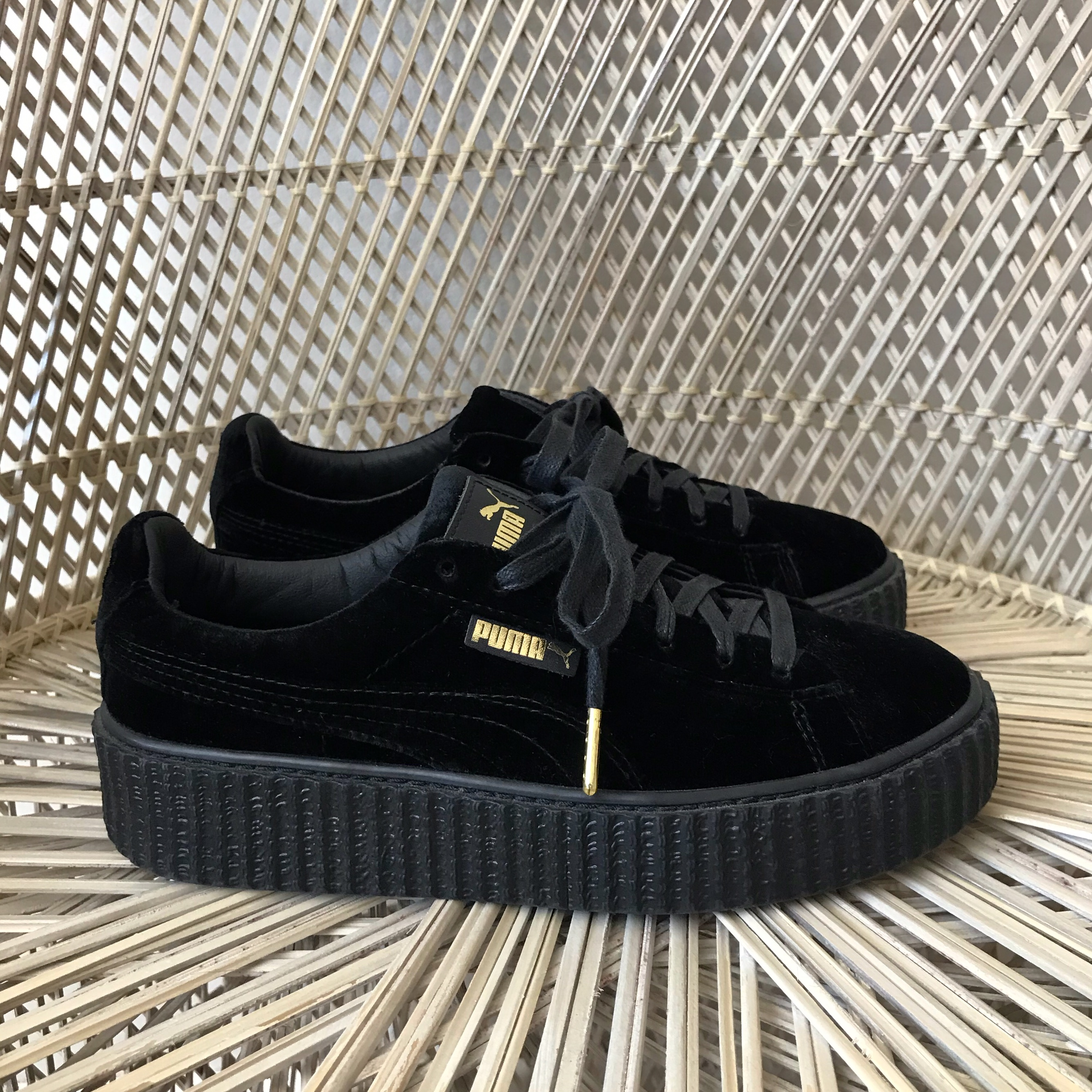 buy popular 6a27c 5c3d5 Fenty Puma by Rihanna black velvet creepers women's ...