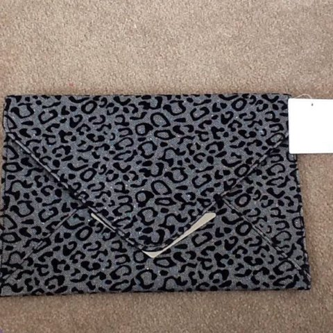 8d18323b022 @lfm22. 3 years ago. Abbots Langley, UK. New sparkly leopard print clutch  bag ...