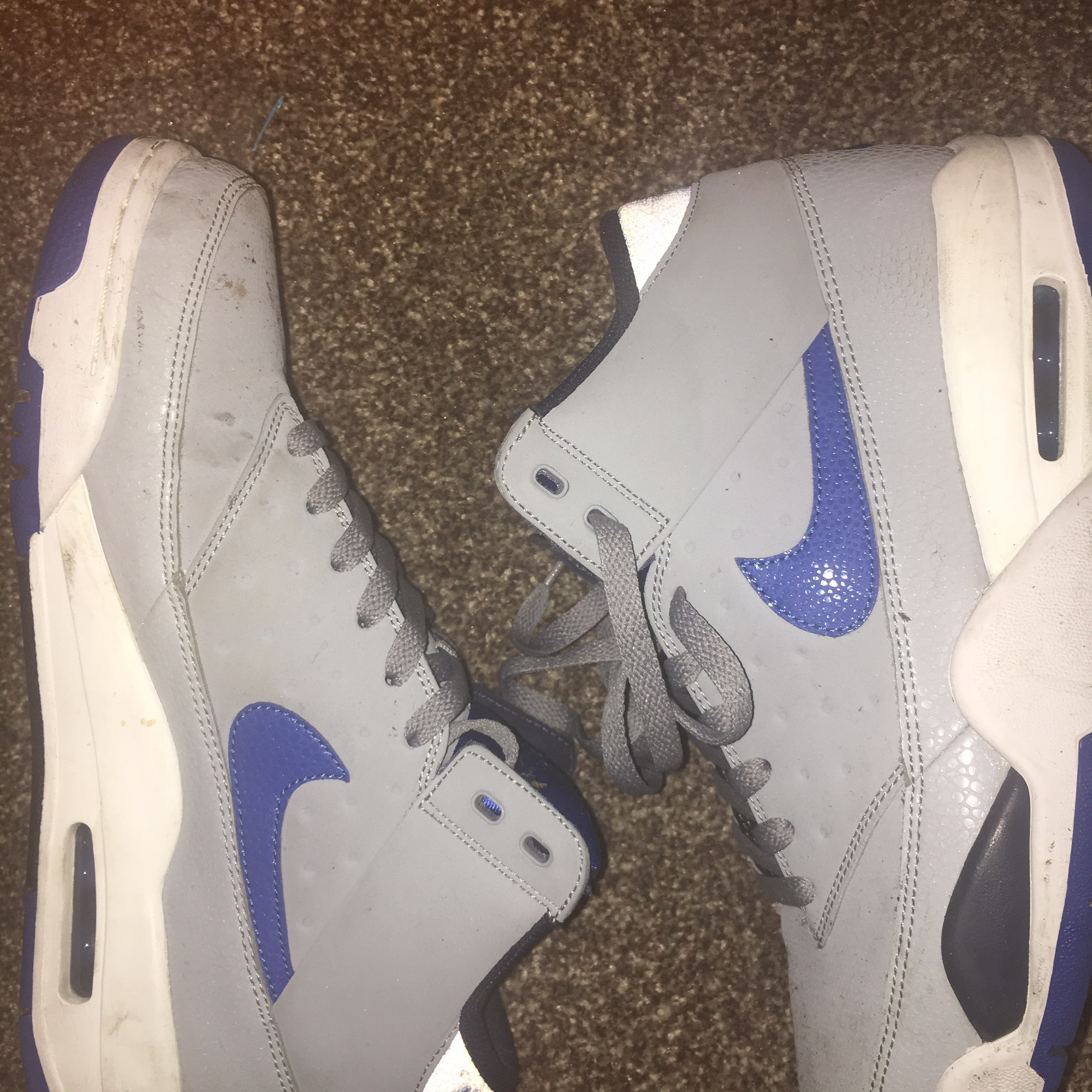 best sneakers 3429c df855 @pecheestee. 7 months ago. London, United Kingdom. Nike Air Flight Classic  Grey and Blue