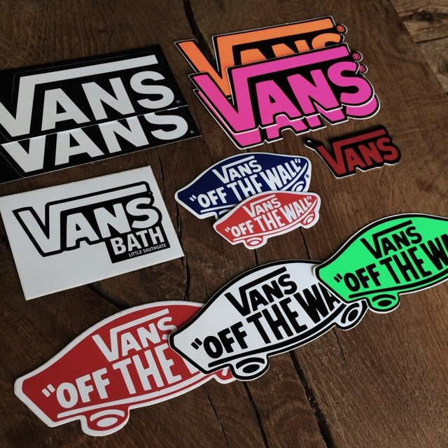 dbe1459d800019 Selection of Original Vans stickers. Message me before you - Depop