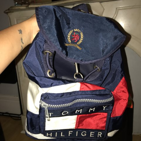 c173bdfe @slmontalvo. last year. Troy, United States. Vintage Tommy Hilfiger  backpacker.