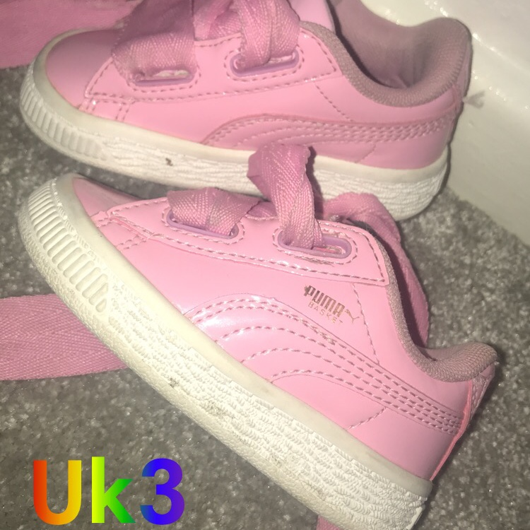 puma basket infant trainers