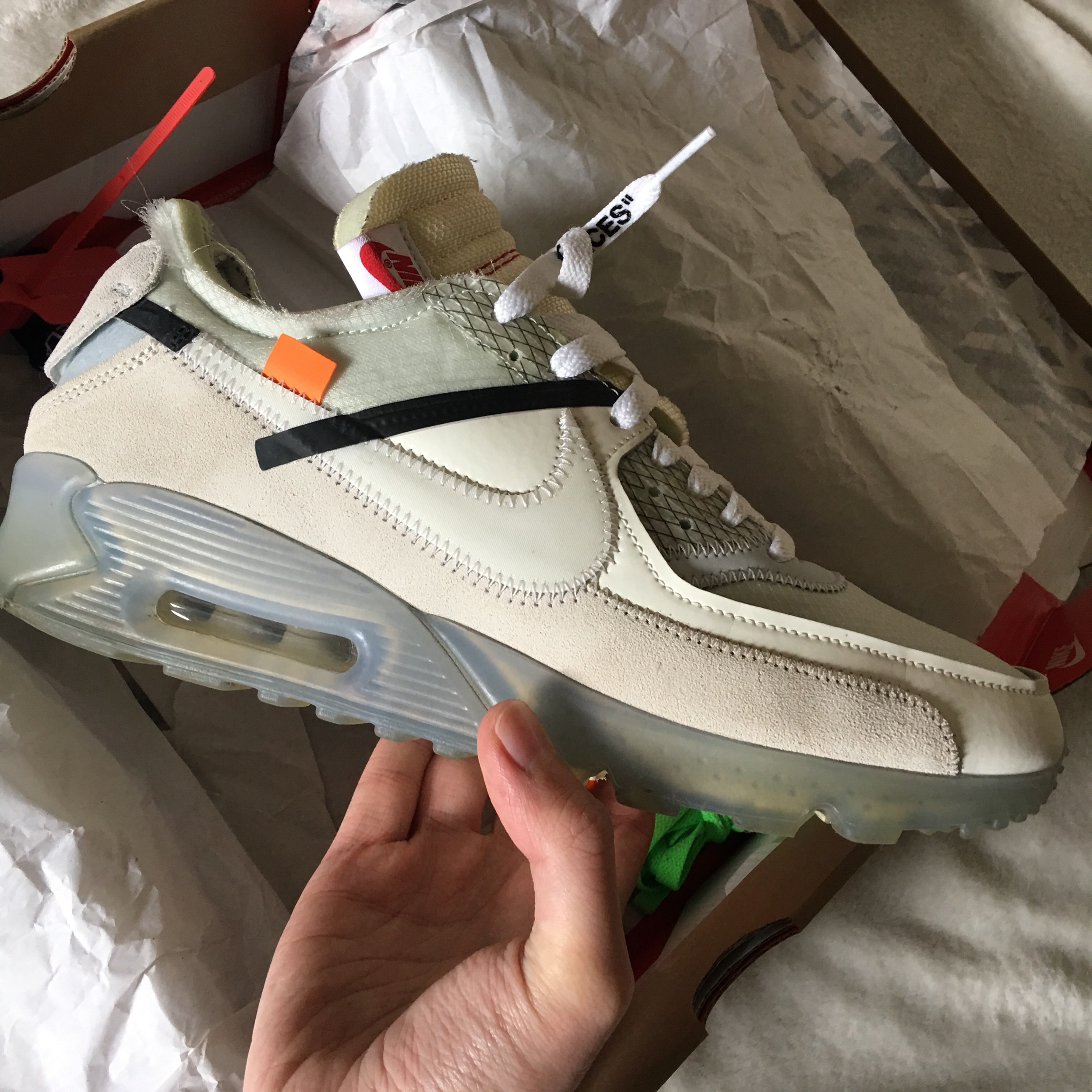 Og Off White Air Max 90 9 10 Condition All Laces And Depop
