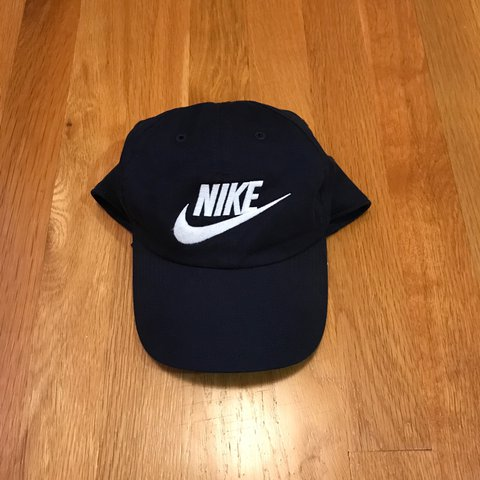 Navy blue Nike dad hat. In good condition.  nike  nikehat - Depop 72a502f24f3