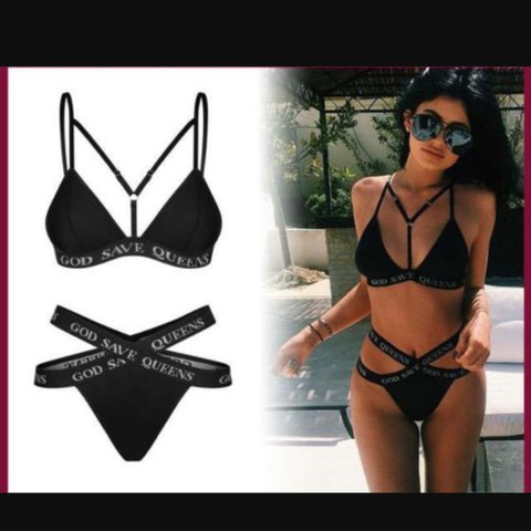 802acdf7ae God save the queen bikini as seen on kylie Jenner