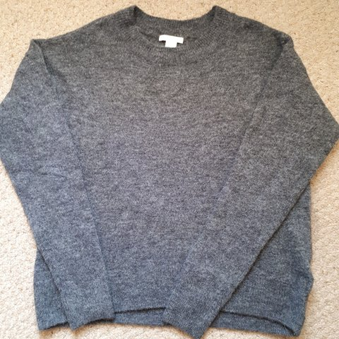 1f48a54f8d Hm dark grey wool blend jumper in great condition size XS uk - Depop