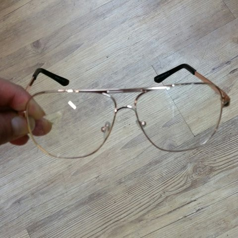 66cbc5bc6f1 Vintage style clear lens aviator glasses