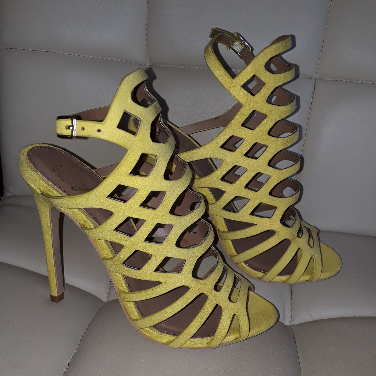 Primark/Penneys yellow strappy sandals