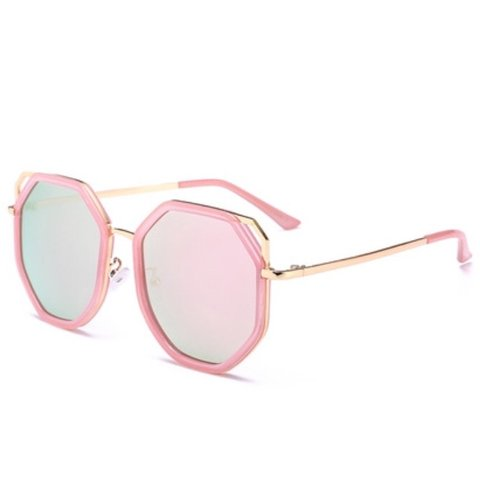 725e2818ba Pink Hexagon Sunglasses 🕶 Think Urban Exclusive Pink to - Depop