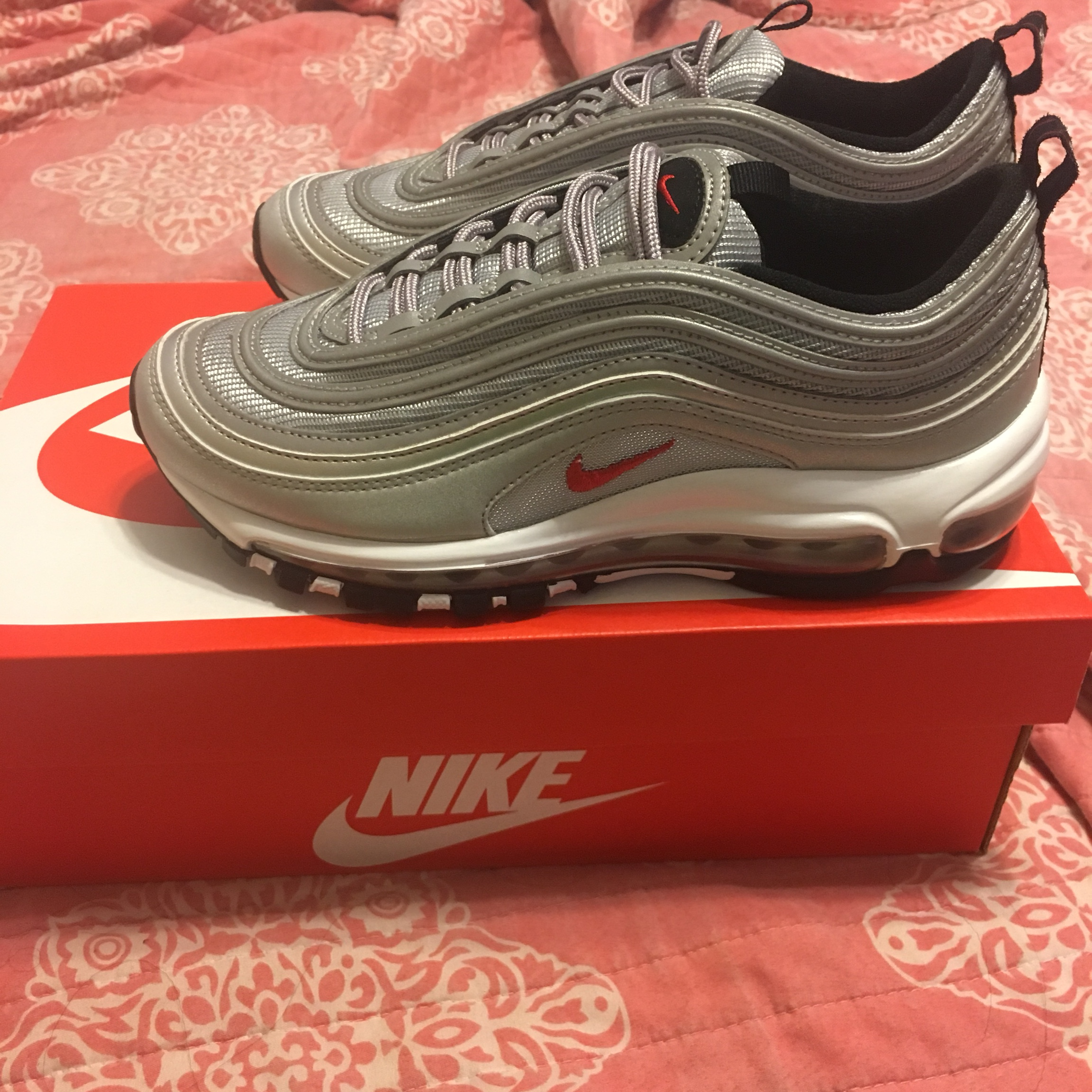 AIR MAX 97 SILVER BULLET YOUTH 5.5 (women's 67) I Depop