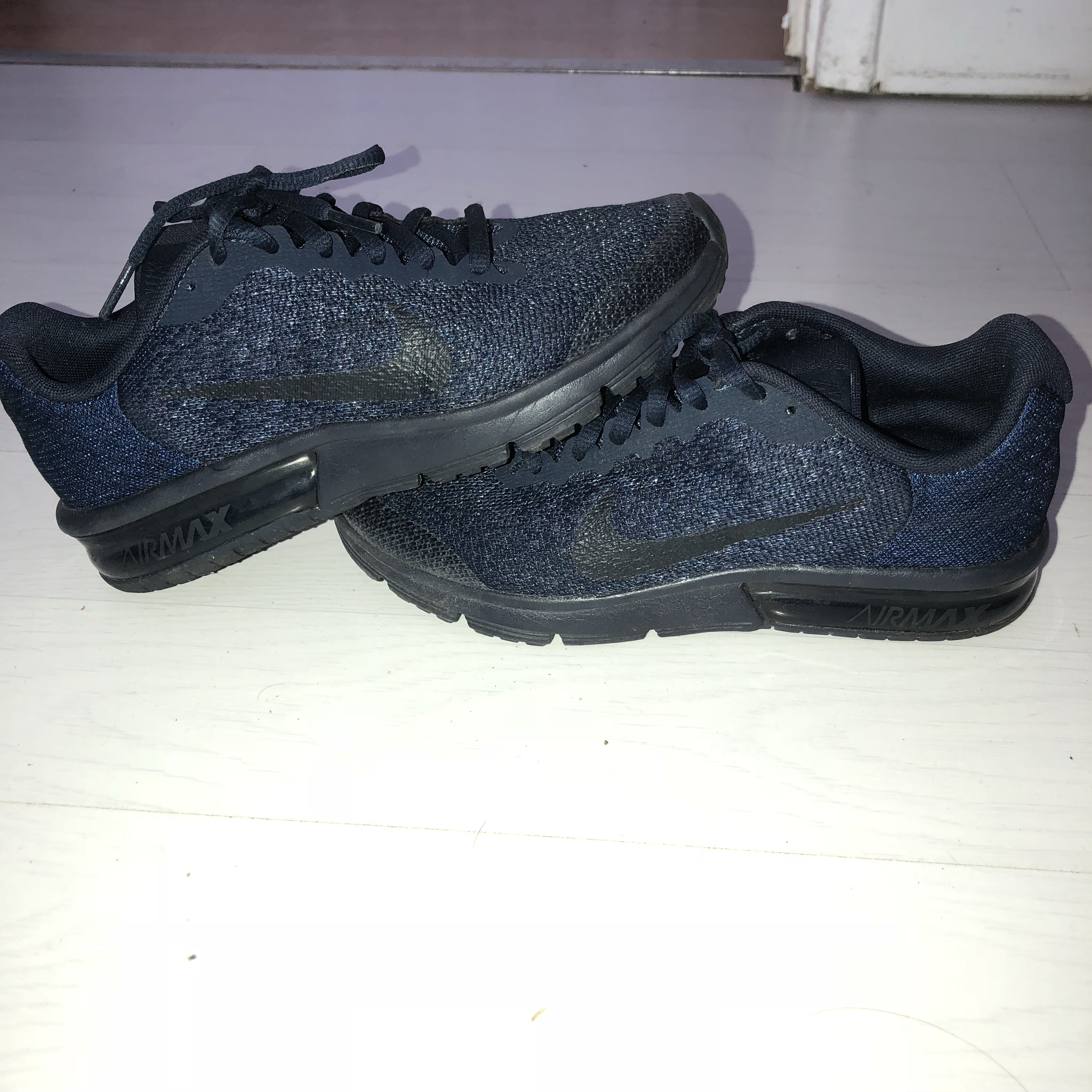 Nike sequent 2 navy trainers, junior