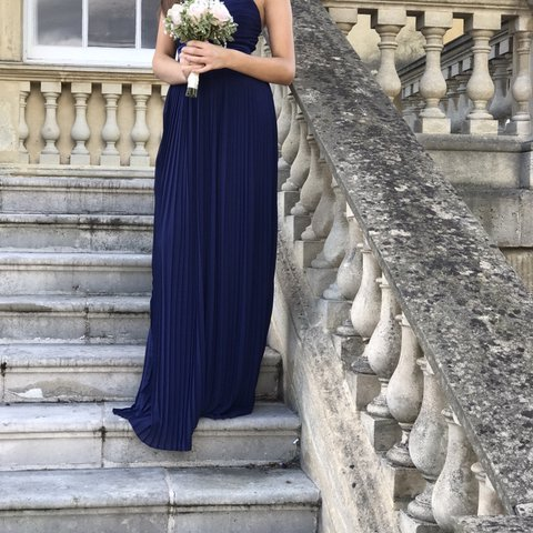 fad918b74 Gorgeous bridesmaid navy blue asos bridesmaid dress Only for - Depop