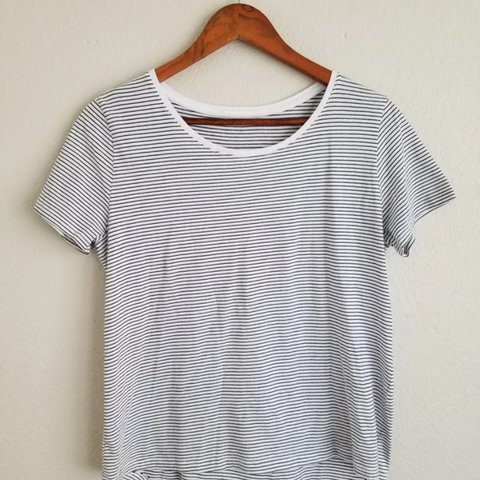 c71c12eb Hi-low striped tee from Zara. Tag has been removed because - Depop