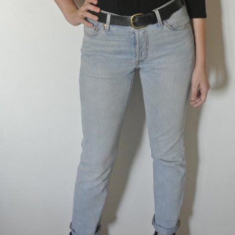 02d03381 @emchgs. 3 years ago. California, USA. Vintage Levi's 501 high waisted jeans !